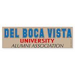 Del Boca Vista University Bumper Sticker