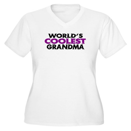World's Coolest Grandma Women's Plus Size V-Neck T