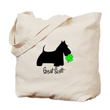 Scottie Shamrock Tote Bag