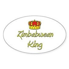 Zimbabwean King Oval Decal