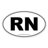 RN Car Oval Decal