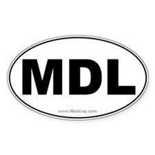 MDL Car Oval Decal