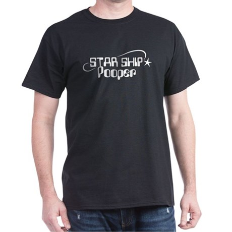 Star Ship Pooper Dark T-Shirt