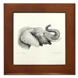 Lucky Elephant ~ Framed Tile