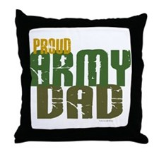 Proud Army Dad 1 Throw Pillow