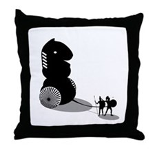 Chess - Trojan Horse Throw Pillow