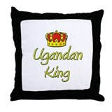 Ugandan King Throw Pillow