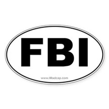 FBI Car Oval Decal
