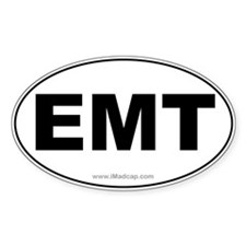 EMT Car Oval Decal