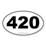 420 Car Oval Decal