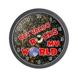 Reynaldo Rocks My World (Red) Wall Clock