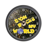 Dion Rocks My World (Gold) Wall Clock
