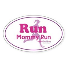 Run Mommy Run Oval Decal