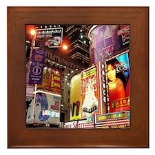 Broadway at Night Framed Tile