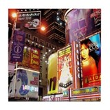Broadway at Night Tile Coaster