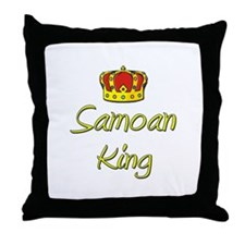 Samoan King Throw Pillow