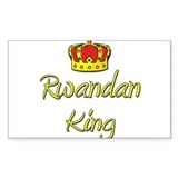 Rwandan King Rectangle Decal