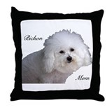 Bichon Mom Throw Pillow