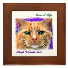 Save a Life - Adopt a Shelter Framed Tile