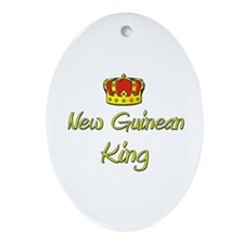 New Guinean King Oval Ornament