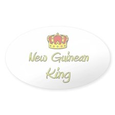 New Guinean King Oval Decal