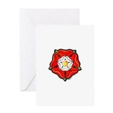Single Tudor Rose Greeting Card