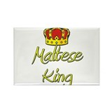 Maltese King Rectangle Magnet (10 pack)