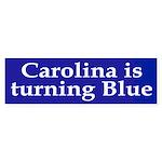 Carolina is Turning Blue (bumper sticker)