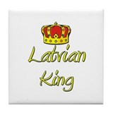 Latvian King Tile Coaster