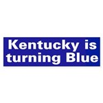 Kentucky is turning Blue (bumper sticker)
