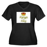 Kyrgyz King Women's Plus Size V-Neck Dark T-Shirt