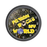 Fabian Rocks My World (Gold) Wall Clock