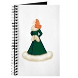 Redhead Diva in Dark Green Robe Journal