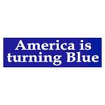 America is turning Blue (bumper sticker)
