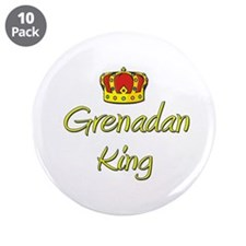 "Grenadan King 3.5"" Button (10 pack)"