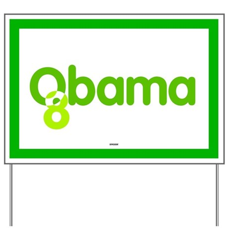 Green Obama 08 Yard Sign