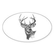 White-Tailed Deer Oval Decal