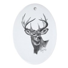 White-Tailed Deer Oval Ornament