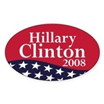 Hillary Clinton 2008 (oval bumper sticker)