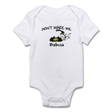Call Babcia Black Phone Infant Bodysuit