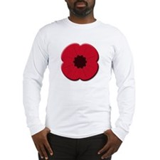 Britpoptarts Remembrance Day Poppy Long Sleeve Tee