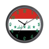 Iraq Flag Clock