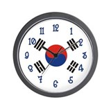 Korea Flag Wall Clock