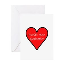 World's Best Godmother Greeting Card