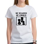 Chessman - WeaponOfChoice Women's T-Shirt