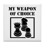 Chessman - WeaponOfChoice Tile Coaster