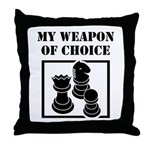 Chessman - WeaponOfChoice Throw Pillow