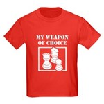 Chessman - WeaponOfChoice Kids Dark T-Shirt