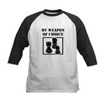 Chessman - WeaponOfChoice Kids Baseball Jersey