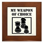 Chessman - WeaponOfChoice Framed Tile